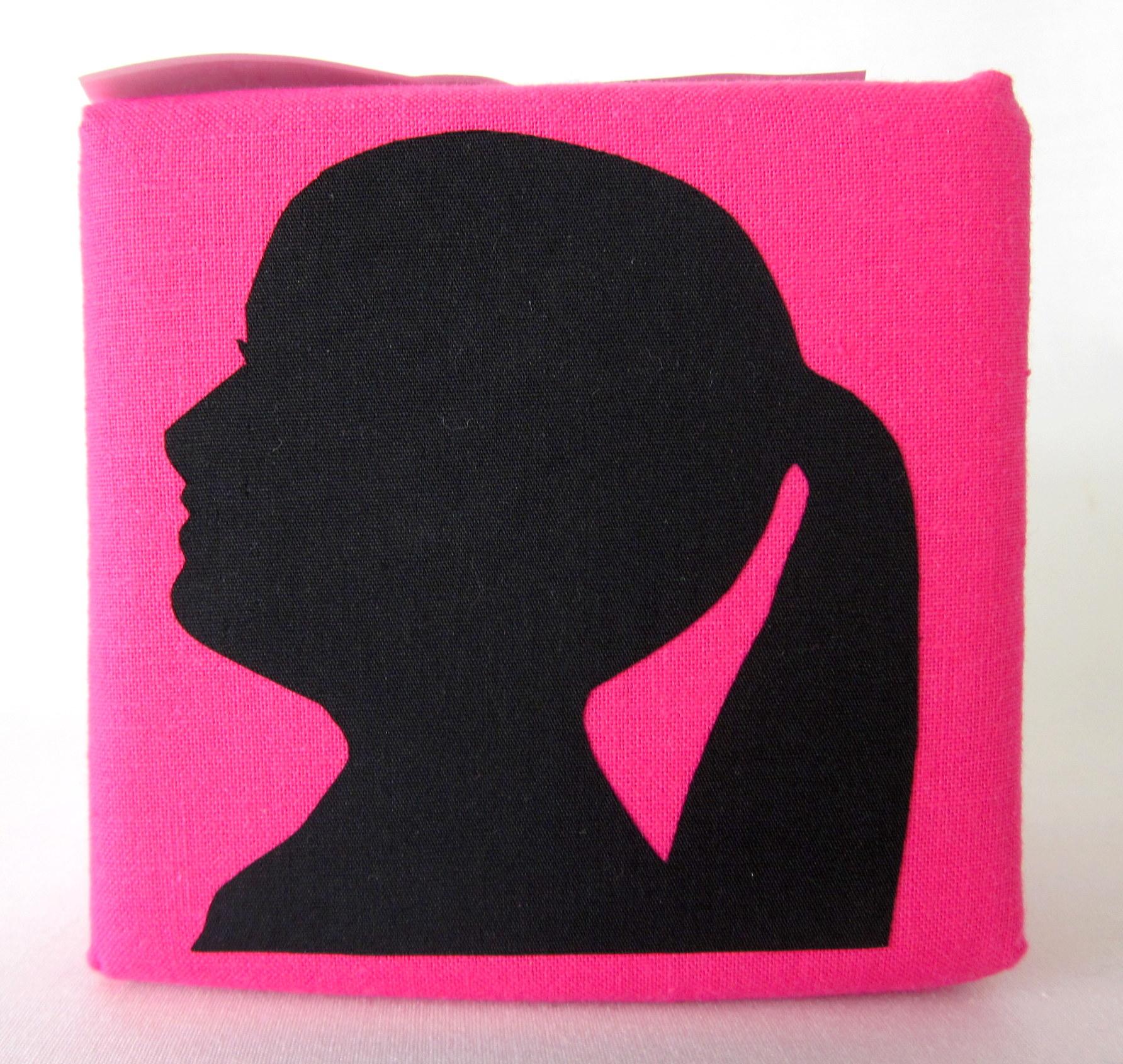 Silhouet kubus. Knip en ontwerp een silhouet kubus als decoratie voor in huis. .