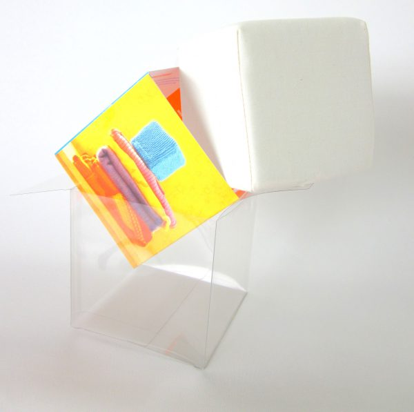 Ecru kubus van katoen, droom-kubus, Keepingtouch, in contact blijven met mooie momenten