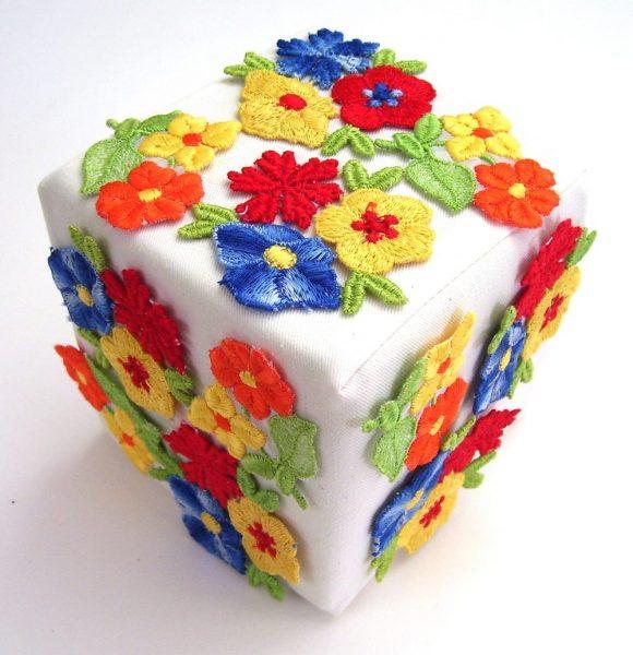 Bloemen kubus